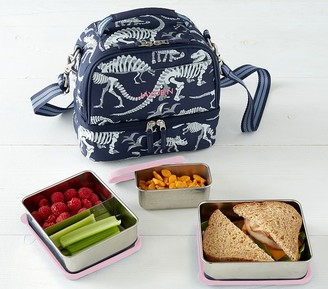 Pottery Barn Kids Stainless Steel Food Container Set, Dual Compartment