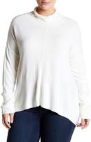 Sweet Romeo Hi-Lo Mock Neck Sweater (Plus Size)