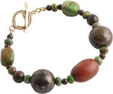 Barse FINE JEWELRY Art Smith by Gemstone & Wood Toggle Bracelet
