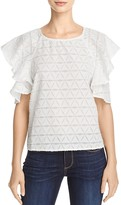 J.o.a. Ruffle-Sleeve Top