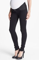J Brand '3402' Denim Maternity Leggings (Black)