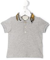 Gucci Kids - embroidered tiger collar polo shirt - kids - Cotton/Spandex/Elastane - 3-6 mth