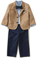 Class Club Little Boys 2T-7 Duck-Print Shirt, Blazer, & Flat-Front Pants 3-Piece Set