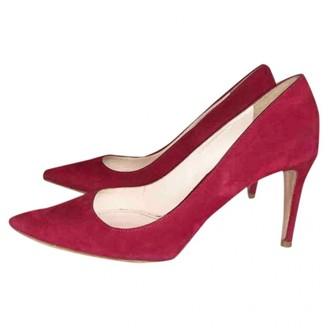 Prada Red Suede Heels