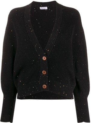 Brunello Cucinelli Ribbed Sequin-Embellished Cardigan