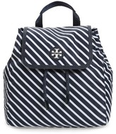 Tory Burch Small Scout Stripe Nylon Backpack - Blue