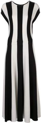 Oscar de la Renta Striped Knitted Dress
