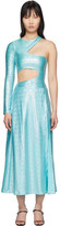 Saks Potts SSENSE Exclusive Blue Asymmetric Jumpsuit and Skirt Set