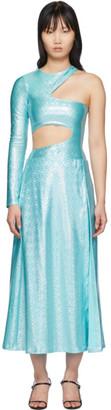 Saks Potts SSENSE Exclusive Blue Asymmetric Jumpsuit and Skirt Set