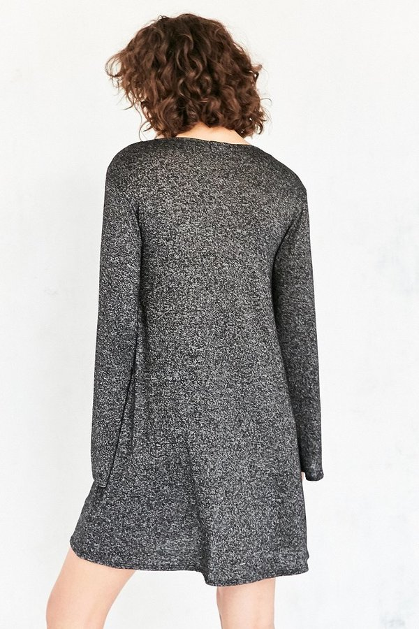 Ecote Cozy Bell-Sleeve Frock Dress