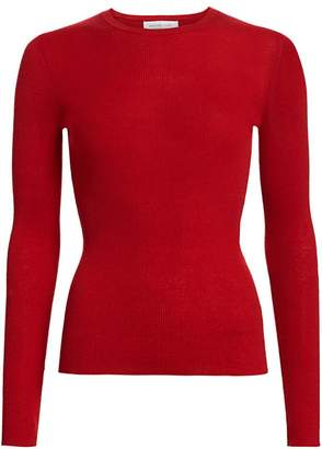 Michael Kors Ribbed Cashmere Knit Crewneck Sweater