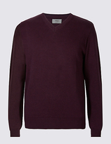 M&S Collection Pure CottonV-Neck Jumper