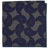 Ted Baker Men's Paisley Wool Pocket Square