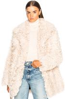 A.L.C. Stone Fur Coat in Neutrals.
