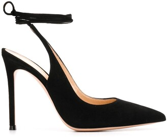 Gianvito Rossi Irene slingback lace-up pumps