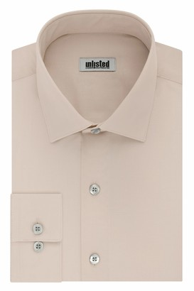 Unlisted by Kenneth Cole mens Regular Fit Solid Dress Shirt