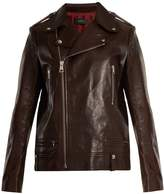 Joseph Ryder zipped creased-leather jacket