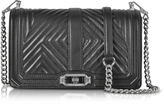Rebecca Minkoff Black Geo Quilted Love Crossbody Bag