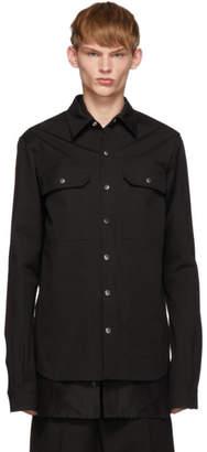 Rick Owens Black Twill Overshirt