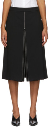 PARTOW Black Wool Bay Mid-Length Skirt