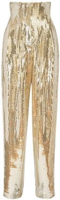 ANOUKI High Waist Sequins Disco Pants