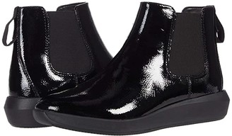 Clarks Tawnia Mid (Black Crinkle Patent Leather) Women's Shoes