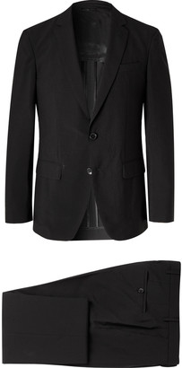 HUGO BOSS Helford Slim-Fit Stretch-Wool And Cotton-Blend Seersucker Suit