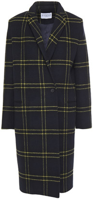 Claudie Pierlot Double-breasted Checked Wool-blend Felt Coat