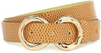 REJINA PYO Infinity embossed leather belt
