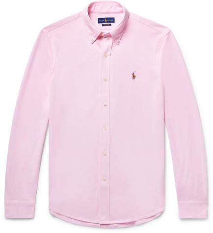 Polo Ralph Lauren Slim-fit Button-down Collar Cotton-piqué Shirt