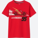 Uniqlo KIDS Cars 3 Short Sleeve Graphic T-Shirt