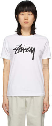 Stussy White Stock T-Shirt