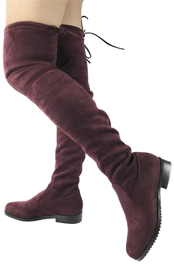 BULL TITAN Womens Suede Leather Ankle Boots Shearling Lined Skidproof Winter Snow Boots