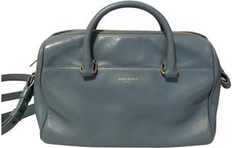 Saint Laurent Duffle Blue Leather Handbags
