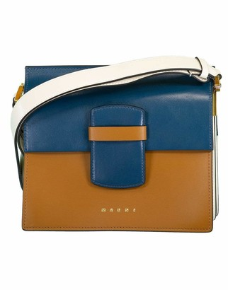 Marni White and Blue Severine Media Tri Color Bag