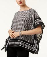MICHAEL Michael Kors Printed Poncho Top