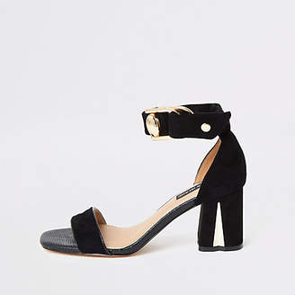 River Island Black block heel sandals