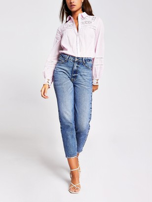 River Island Embroidered Shirt - Pink