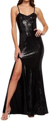 Dress the Population Ingrid Sequin Evening Dress