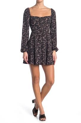 re:named apparel Lia Smocked Mini Dress