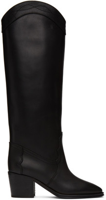 Saint Laurent Black Tall Western Kate Boots