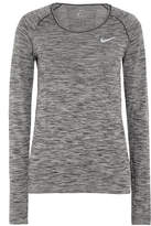 Nike Perforated Dri-fit Stretch-jersey Top - Anthracite