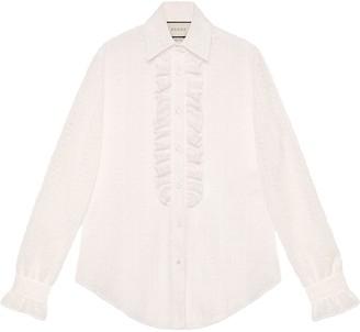 Gucci Lace shirt with ruffles