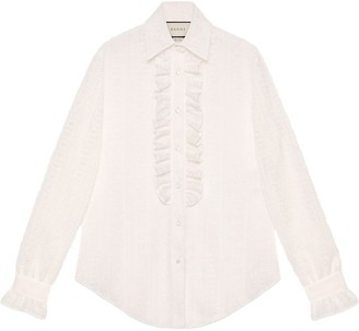 Gucci Lace shirt with ruffles