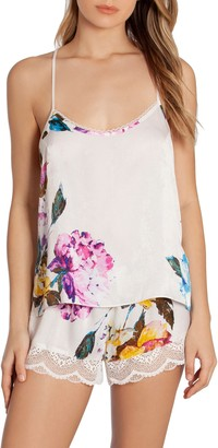 Jonquil In Bloom By Still In Love Lace Trim Floral Camisole Pajamas