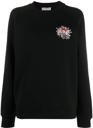 Givenchy Floral Embroidery Sweatshirt