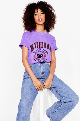 Nasty Gal Womens That's a Game Changer Graphic Tee - Purple