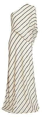 Halston Women's Asymmetric Stripe Gown