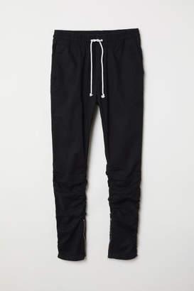 H&M Cotton Twill Joggers - Black