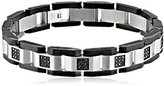 Black Diamond Cold Steel Men's Stainless Steel Black Immersion-Plate Bracelet, 8.5""